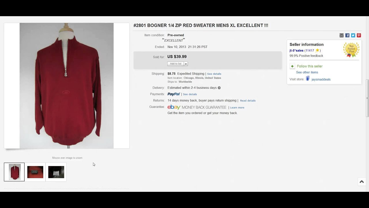 The Clothing Classroom: 10 Sweaters That Sold On Ebay - Make Money Online -  Raiken Profit