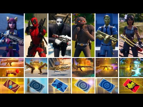 All Bosses, Mythic Weapons & Vault Locations Guide - Fortnite Chapter 2 Season 2 (Fastest Way)