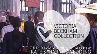 David Beckham and Victoria Beckham at the Royal Wedding Windsor Castle watch to see Victoria's Face