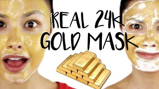 TRYING A REAL 24K GOLD MASK! First Impressions ♥ Elizavecca Kangsi Pack