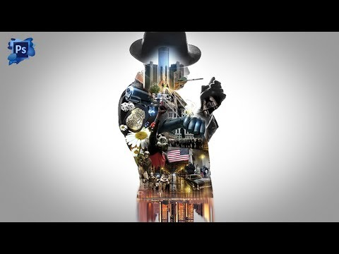 Double Exposure Cinemagraph Movie Poster Effect Adobe CC Photoshop Tutorials thumbnail