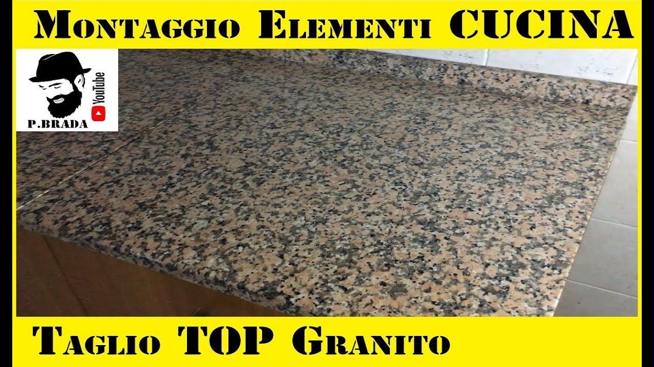 Tagliare Marmo Piano Cucina montaggio elementi cucina/taglio top granito fai da te by paolo brada diy