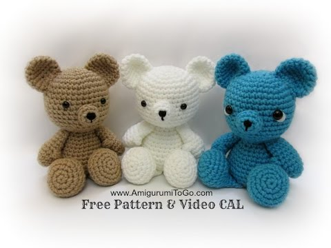 Crochet Bear Video Tutorial from YouTube · Duration:  1 hour 50 minutes 53 seconds