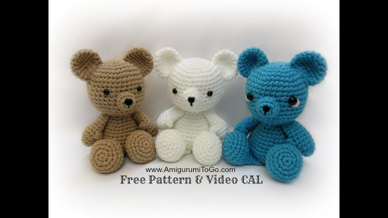 Youtubecroche : Crochet Bear Video Tutorial - YouTube