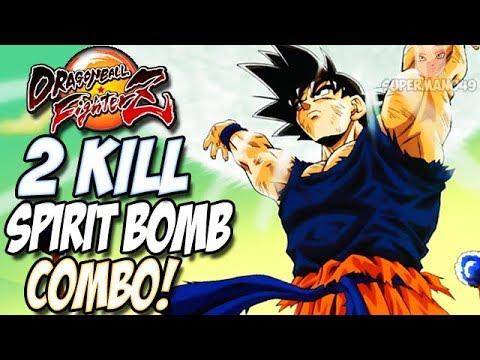 THE MOST INSANE 255 HIT SPIRIT BOMB HAPPY BIRTAY COMBO - Dragon Ball FighterZ: Base Goku