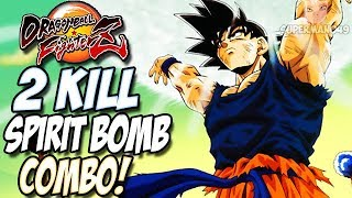 THE MOST INSANE 255 HIT SPIRIT BOMB HAPPY BIRTHDAY COMBO! - Dragon Ball FighterZ: