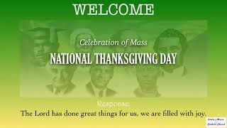 Mass, National Thanksgiving Day 2021