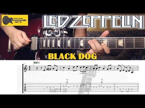 Black Dog (Led Zeppelin) GUITAR LESSON With TAB - Rhythm Parts