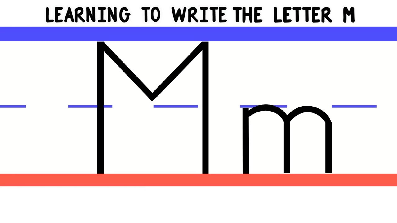 write the letter m - abc writing for kids - alphabet handwriting by