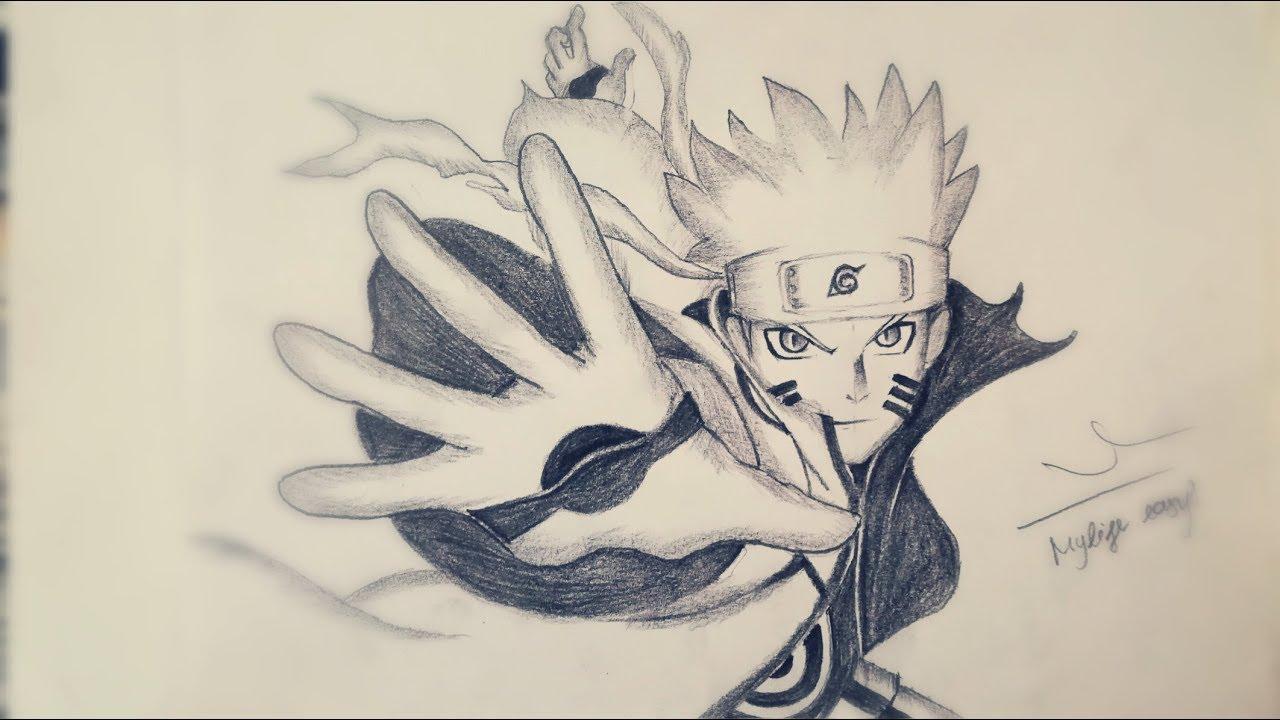 Học vẽ Naruto (Trạng thái Chakra Cửu vĩ)    DRAW NARUTO CHAKRA KYUUBI MODE, TUTORIAL STEP BY STEP!!