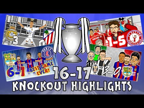 🏆UCL KNOCKOUT STAGE HIGHLIGHTS🏆 2016/2017 UEFA Champions Lea