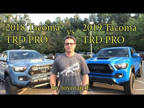2019 Tacoma TRD PRO vs 2018 Tacoma TRD PRO
