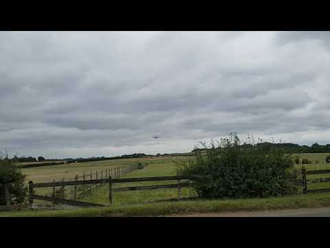 Airbus A330 TOW2233 air tanker landing at R.A.F brize norton 18/08/18