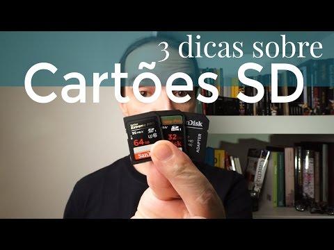 3 Dicas Sobre Cartões SD, SDHC e SDXC