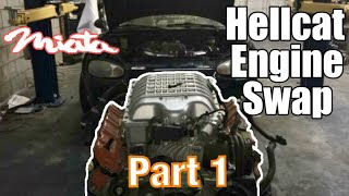 KARR - HELLCAT Engine Swapping A MIATA (Part 1)