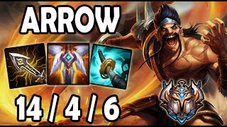 Arrow DRAVEN vs JINX [ 9.23 ] Lol Challenger Korea