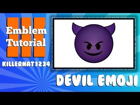 Black Ops 3 Emblem Tutorial: Purple Devil Emoji
