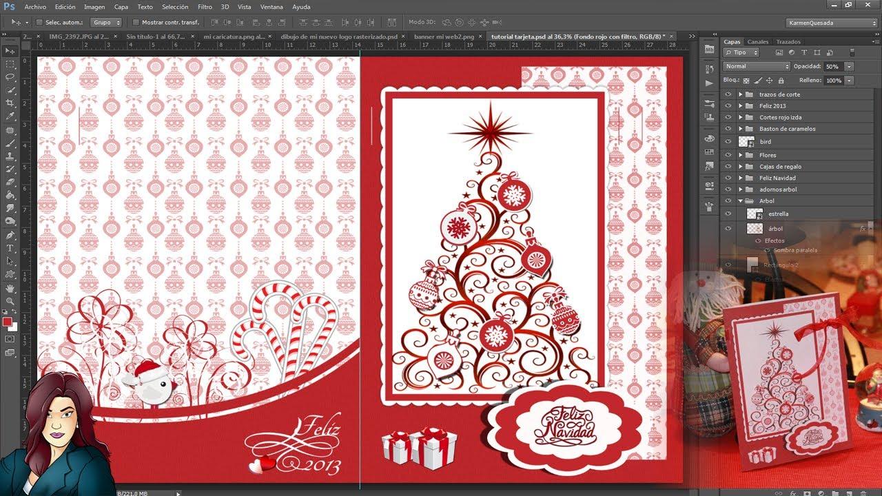 Tutorial photoshop tarjeta de felicitacion navidade a - Como hacer una felicitacion de navidad original ...