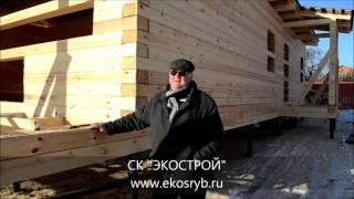 Одноэтажный дом из профилированного бруса под усадку(СК
