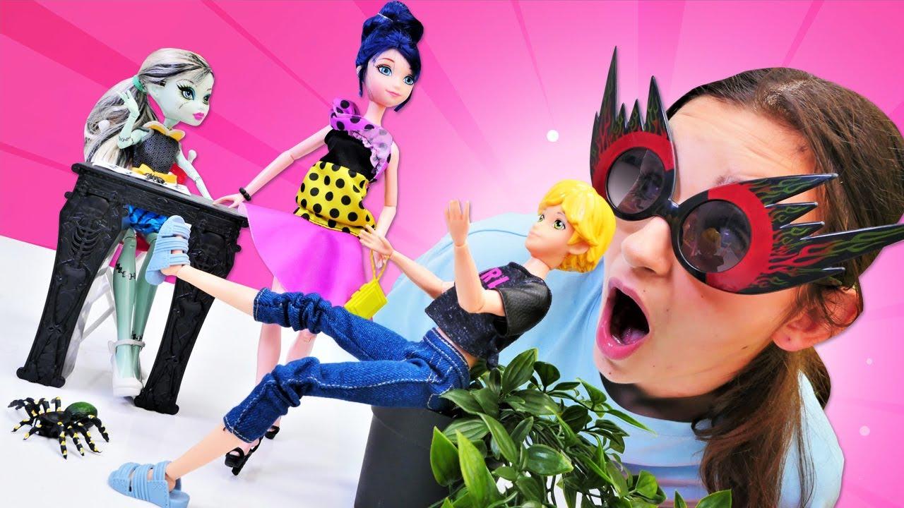 Eğlenceli video. Marinette ve Adrian'ın parti maceraları! Giydirme oyunu.