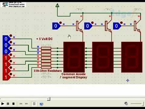 Multiple 7 Segment Display Circuit Diagram | Free Circuits