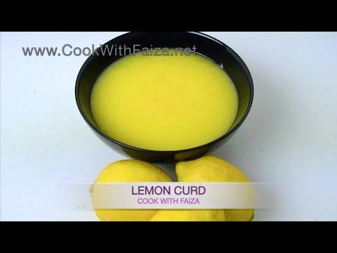 LEMON CURD - نیبو کرڈ - नींबू कर्ड