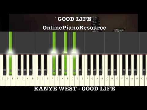 Kanye West - Good Life Keyboard Tutorial w/ FREE MIDI & WAVE FILE
