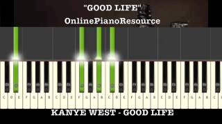 Kanye West - Good Life Keyboard Tutorial w/ FREE MIDI & WAVE FILE