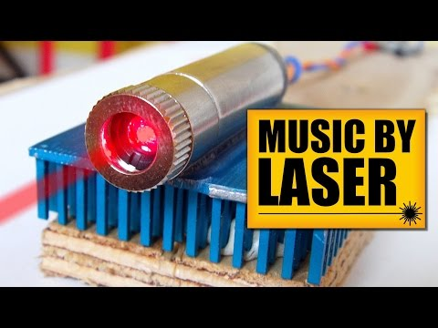 Music by LASER : DIY Experiments [#3] Sound transfer by light / LASER music air / light music