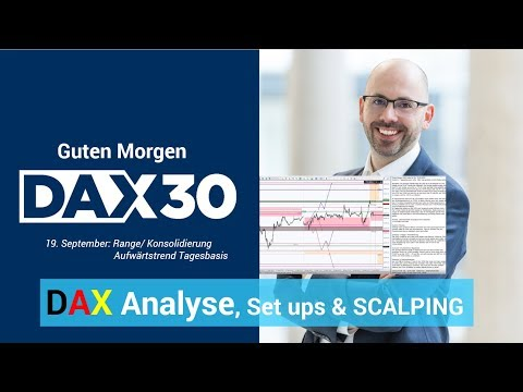 Scalping, Analyse, Trading-Ideen   DAX 30   CFD Trading   DAX Analyse   Heiko Behrendt   19.09.19