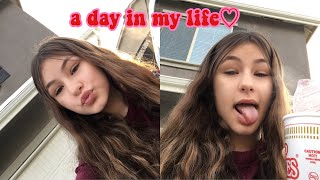 a day in my life vlog makeup haul friends  school