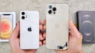 iPhone 12 Mini vs 12 Pro Max DROP Test! Size Matters