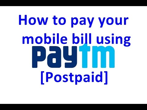 How to pay your mobile bill using Paytm [Postpaid]