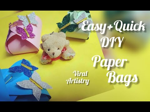 #DIY #PAPERCRAFT #GIFTBAGS #VIRALARTISTRY !How to make cute little paper bags in just 5 minutes!