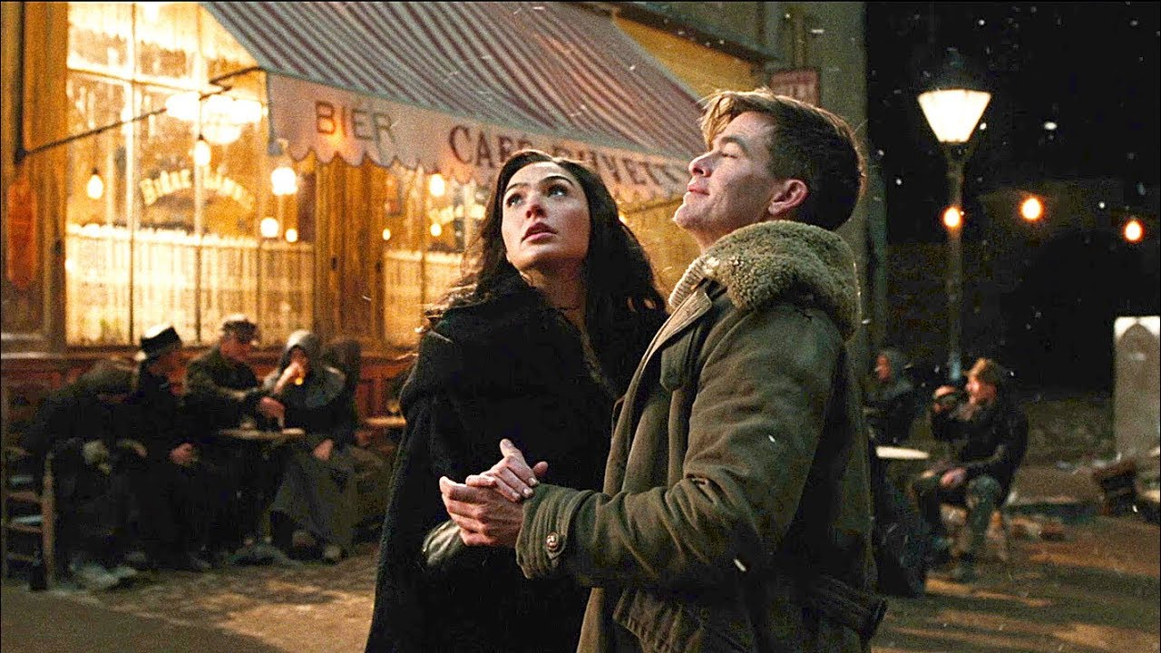 Image result for wonder woman kiss steve trevor movie