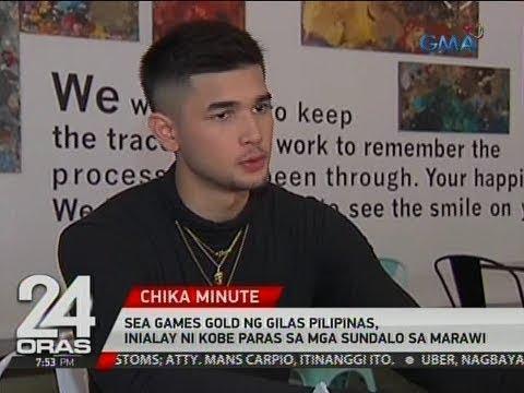 24 Oras: SEA Games gold ng Gilas Pilipinas, inialay ni Kobe Paras sa mga sundalo sa Marawi