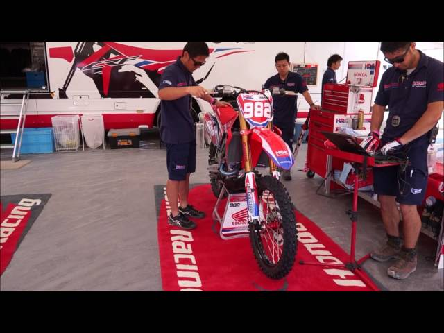 2016/7/2/HONDA HRC  motocross Paddock in KOBE