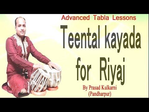 Teental ( KAYADA In TEENTAAL For Tabla Practice)