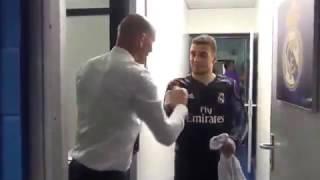 شاهد طقوس زيدان مع لاعبى ريال مدريد