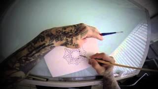 Mandala drawing- Bboy Smurf