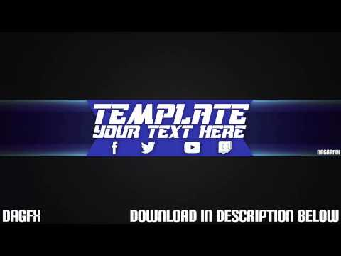 Cool channel art template 39 free photoshop download for Cool youtube channel art templates