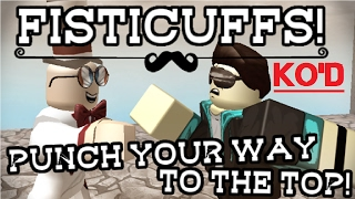 I GAVE HIM A FLYING LESSON!!   FIST FIGHT!   ROBLOX   FISTICUFFS!