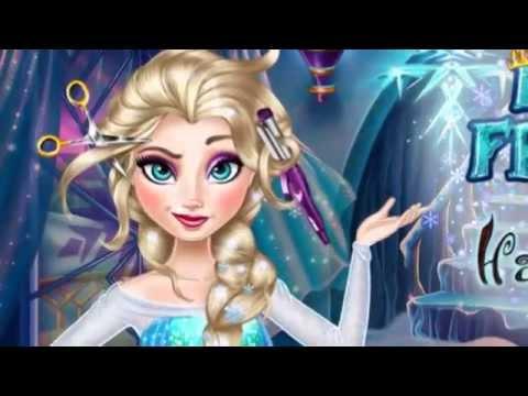 Настоящие прически Эльзы - игра для девочек