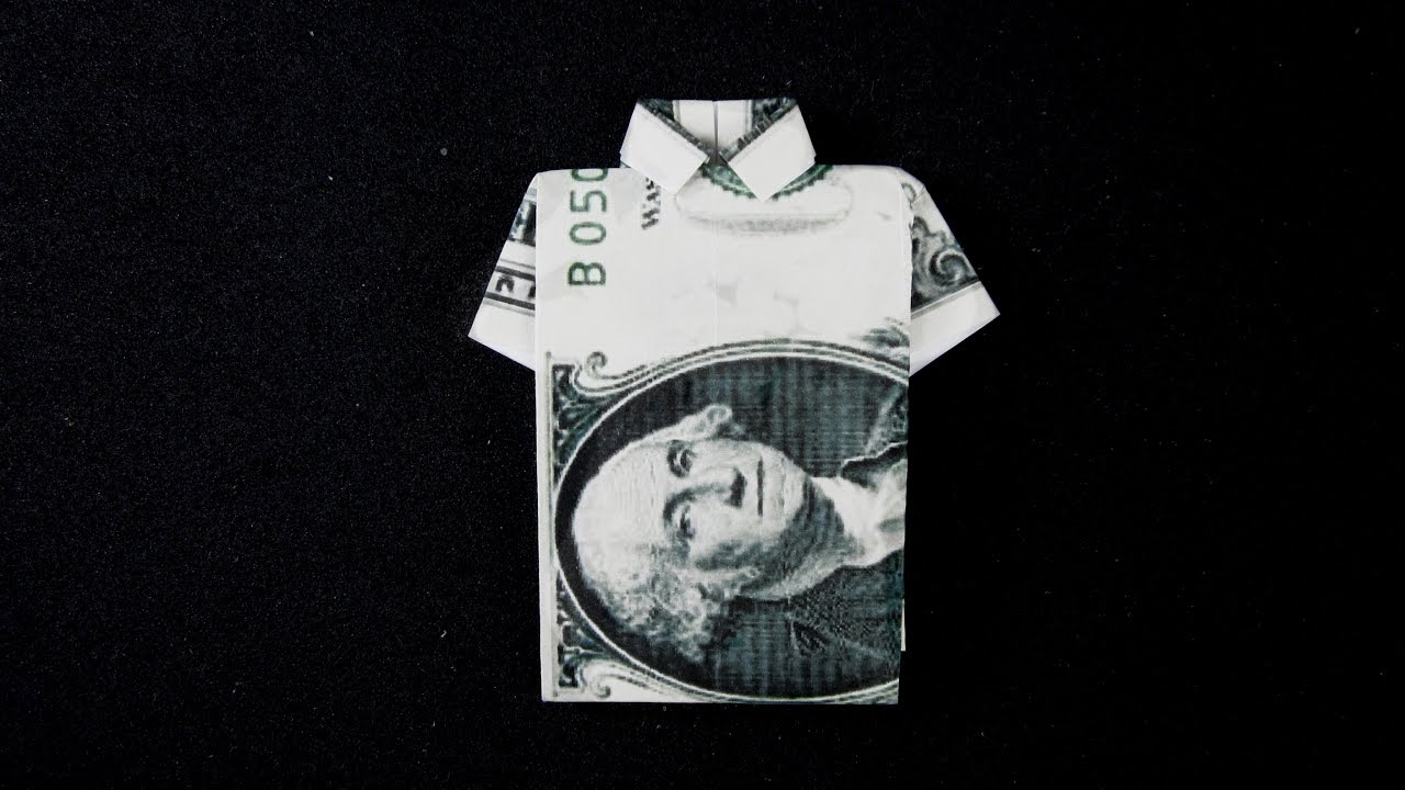 Collared shirt and tie made out of a one dollar bill | Ah Crafty ... | 720x1280
