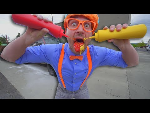 Car Wash with Blippi | Washing the Big Red Truck