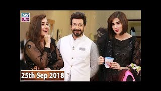 Salam Zindagi With Faysal Qureshi Javeria Saud & Fiza Ali - 25th September 2018
