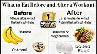 What To Eat Before And After Workout At Gym | Pre Workout Meal And Post Workout Meal