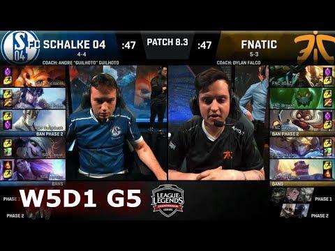 FC Schalke 04 vs Fnatic | Week 5 Day 1 of S8 EU LCS Spring 2018 | S04 vs FNC W5D1 G5
