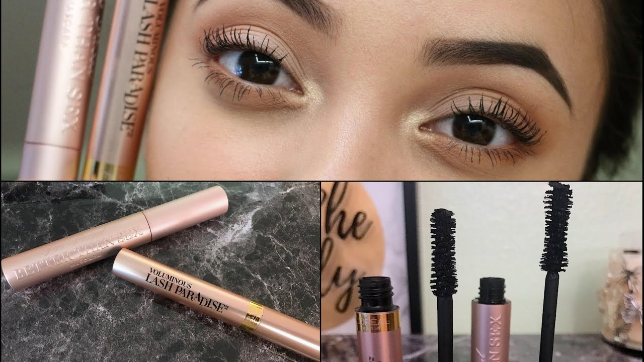 L'Oreal Voluminous Lash Paradise Vs. Too Faced Better Than Sex Mascara | Review & Demo