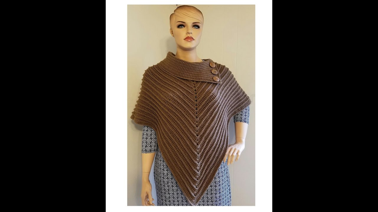 The easiest poncho you'll ever make (free crochet pattern) youtube.